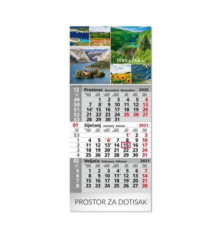 Tisak poslovnih trodjelnih kalendara