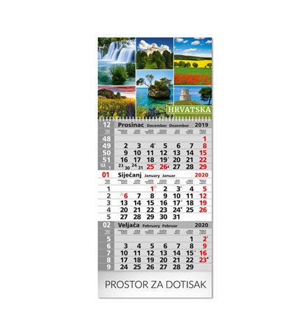Tisak trodjelnih kalendara